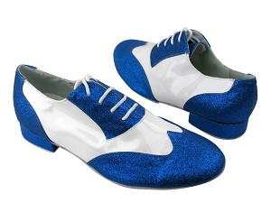 M100101 234 Blue Stardust_White Patent