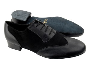 M100101 Black Leather_Black Nubuck