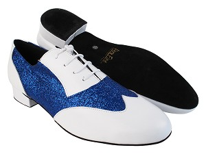M100101 White Leather_F_B_234 Blue Stardust_M