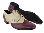 PP301 BB11 Burgundy Leather_BB13 Beige Leather