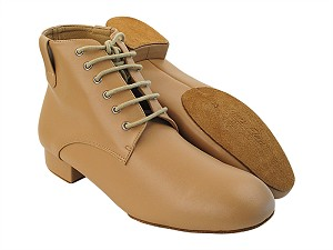 RCCL9001 220 Beige Brown Leather with Men's 1 inch Standard Heel in the photo