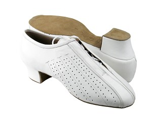 S409 White Leather