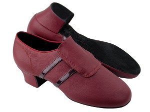 S410 BC9 Dark Red Light Leather_BA73 Purple Red Patent Trim