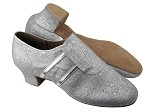 S410 BH6 Silver Glitter_Silver Leather Trim