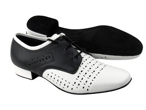 ST38 White Leather & Black Leather