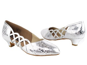 "CD5501 Silver Leather with 1.1"" heel in the photo"