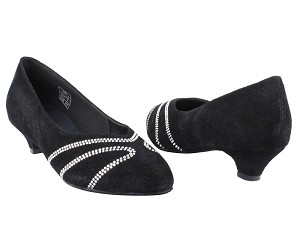 CD5504 Black Suede Cuban Heel