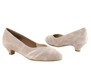 "CD5504 Grey Suede with 1.1"" heel in the photo"