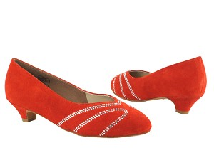 CD5504 Red Suede Cuban Heel
