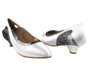 CD5505 White Satin Cuban Heel