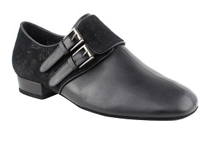 "CD9006A Black Leather & Nubuck with 1"" standard heel"