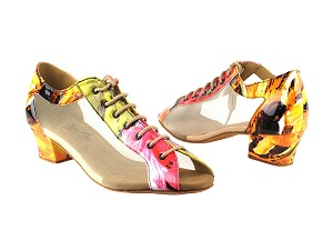 "1643LEDSS Rainbow Flower with 1.5"" Medium Heel in the photo"