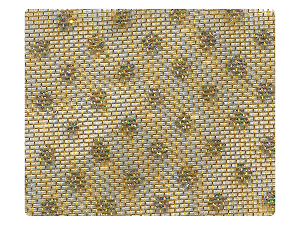 108 Gold (Dots) Mesh Fabric Swatch