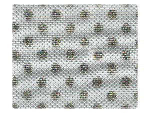110 Silver (Dots) Mesh Fabric Swatch