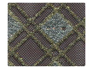 195 Gold_Silver Square Mesh Fabric Swatch
