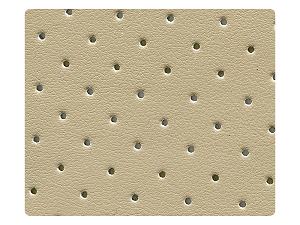 07 Tan Perforated PU Fabric Swatch