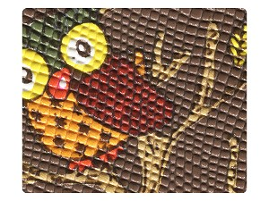 99 Coffee Owl PU Fabric Swatch