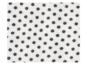 256 White & Black Dots Satin