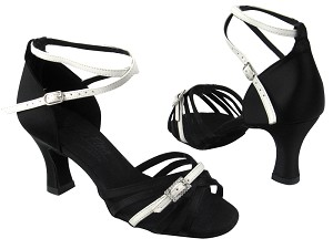 S92327 BD12 Black Satin_H_BA49 White Leather_T_S