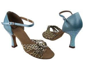 S9283 Black Gold Braid_BC10 Light Blue_B_BF23 Light Blue Sparkle Heel