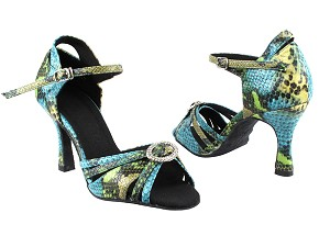 "SERA1154 Blue & Green Snake with 3"" heel in the photo"
