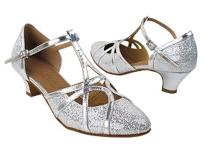 "SERA3541 Silver Scale & Silver Trim with (5028) 1.2"" Cuban Heel in the photo"