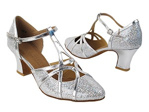"SERA3541 Silver Scale & Silver Trim with 2.2"" Thick Cuban Heel in the photo"