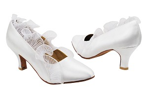"SERA5517 White Satin with 2.5"" low heel in the photo"