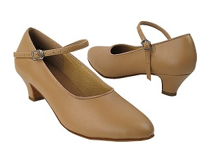 "SERA5522 Beige Brown Leather with (5028) 1.2"" Cuban Heel in the photo"