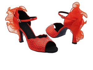 "SERA7014 Red Satin with 3"" heel in the photo"