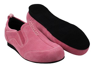SERA701BBX Pink Suede with flat heel in the photo