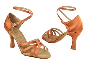 C1606 Dark Tan Satin Vegan