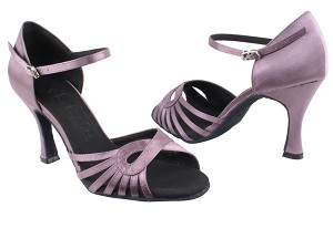"SERA3870 Lavender Satin with 3"" heel in the photo"